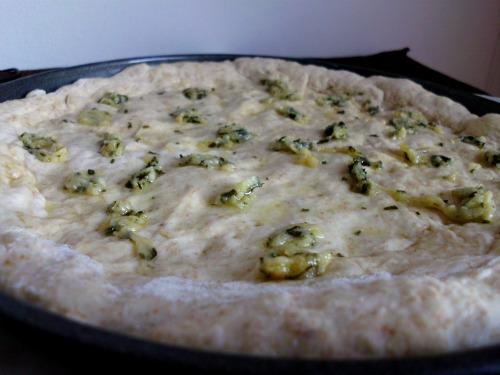 BBQ Chicken Pizza on a Garlic Bread Crust