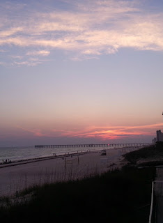 Panama City Beach Florida Sunset at the Pier