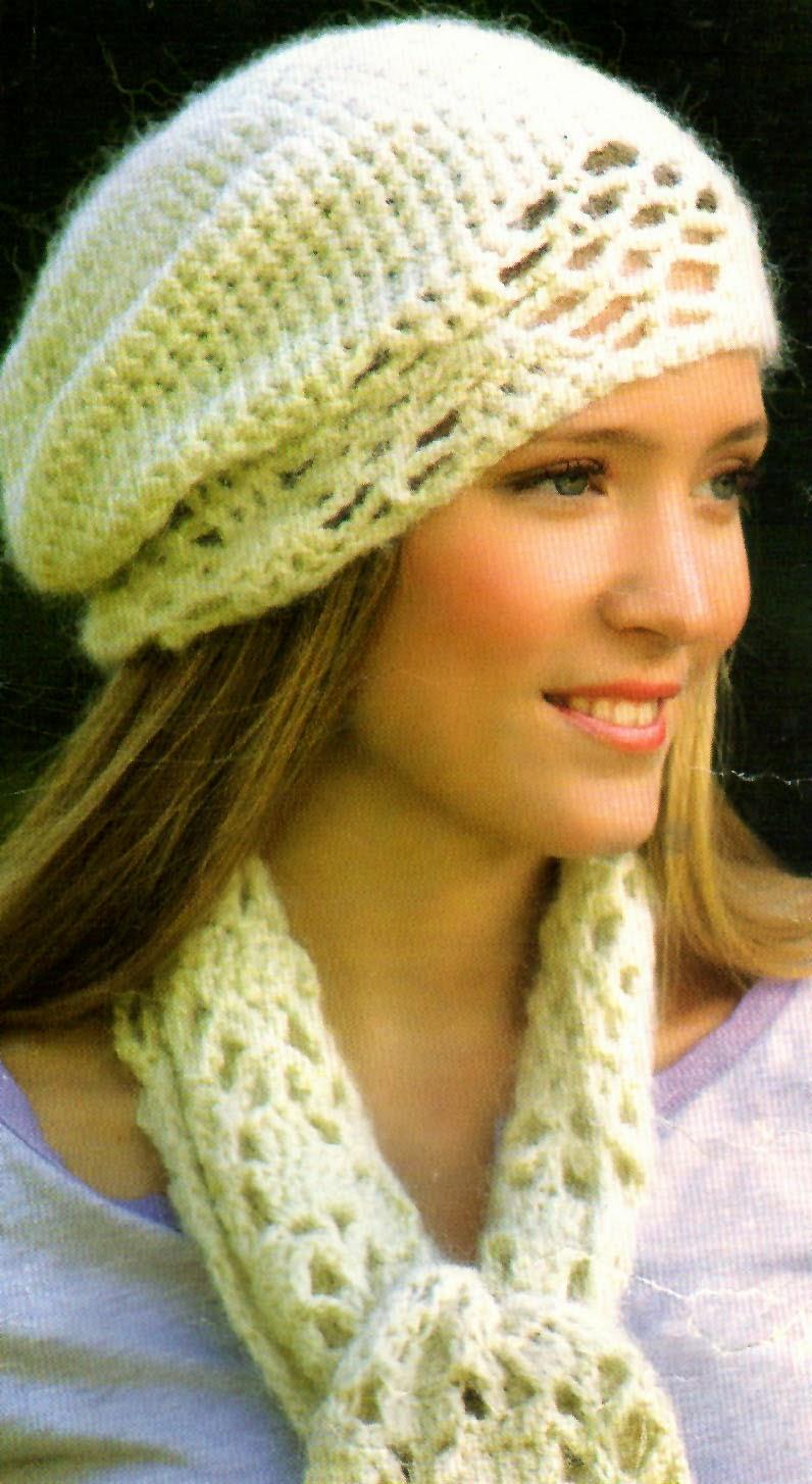 boina y bufanda tejida en crochet