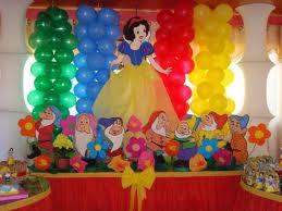 DECORACION CON GLOBOS CON BLANCA NIEVE by decoracionesparafiestasinfantiles.blogspot.com