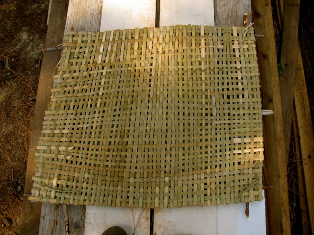 How To Weave A Cattail Basket : Woven cattail mats sustainable living project