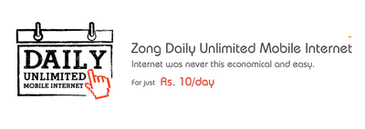Daily Unlimited Mobile Internet
