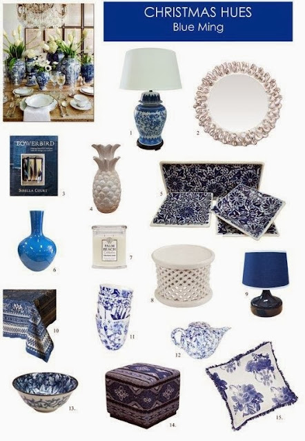 Sibella Court, Bowerbird, Bonnie and Neil, pineapple, blue and white, shell mirror, tiles, scented candles, cushions, homewares, luxe