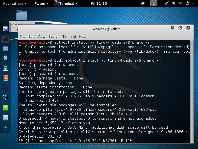 install vmware tools rhel 6.9
