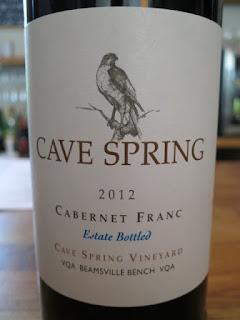 Cave Spring Cabernet Franc Estate Bottled Cave Spring Vineyard 2012 - VQA Beamsville Bench, Niagara Peninsula, Ontario, Canada (88+ pts)