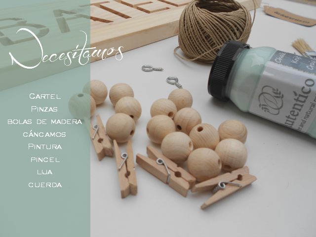 DIY chalk paint y bolas de madera