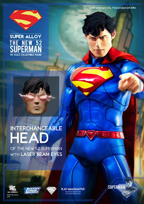 "Play Imaginative Super Alloy 1/6 Scale New 52 Superman 12"" Figure"