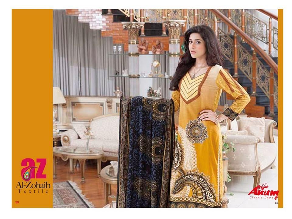 AnumClassicLawnVOL 2ByAl ZohaibTextile 10  - Anum Classic Lawn 2014 Vol-2 By Al-Zohaib Textile