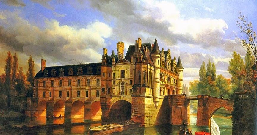 Peinture Fran U00e7aise Du 19 U00e8me Si U00e8cle  Le Chateau De