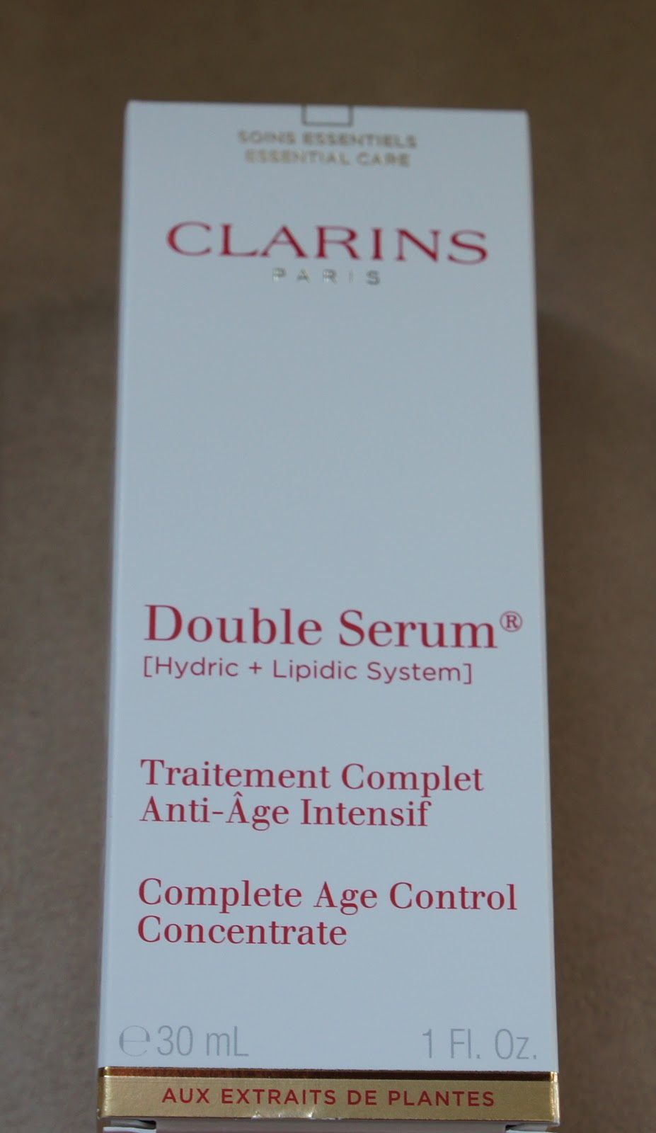 clarins double serum instructions