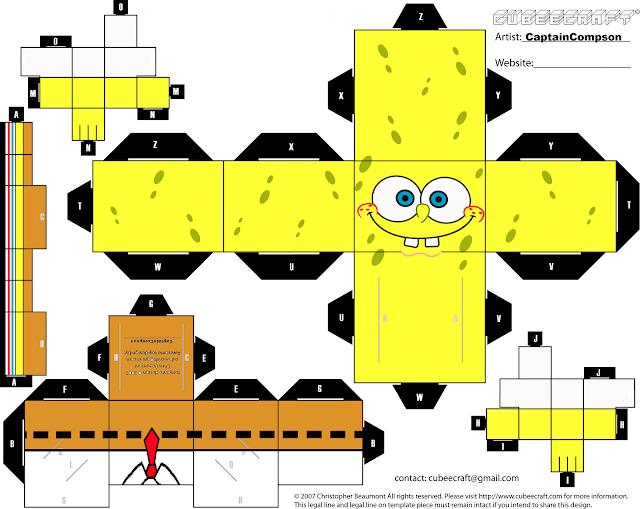 Papercraft Bob Esponja para montar