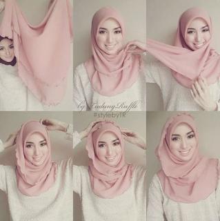 Hijab Segi Empat Simple Untuk Sehari-Hari