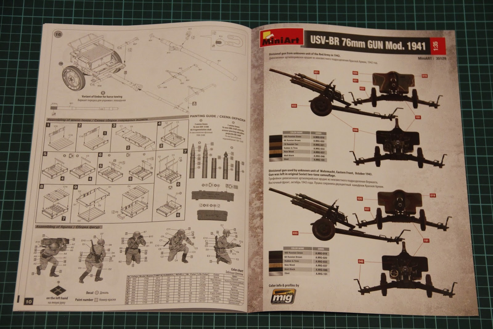Surprisingly, marking guide for the figurines is printed in black-and ...