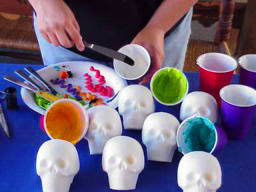Skull candies for Day of the Dead Festivities