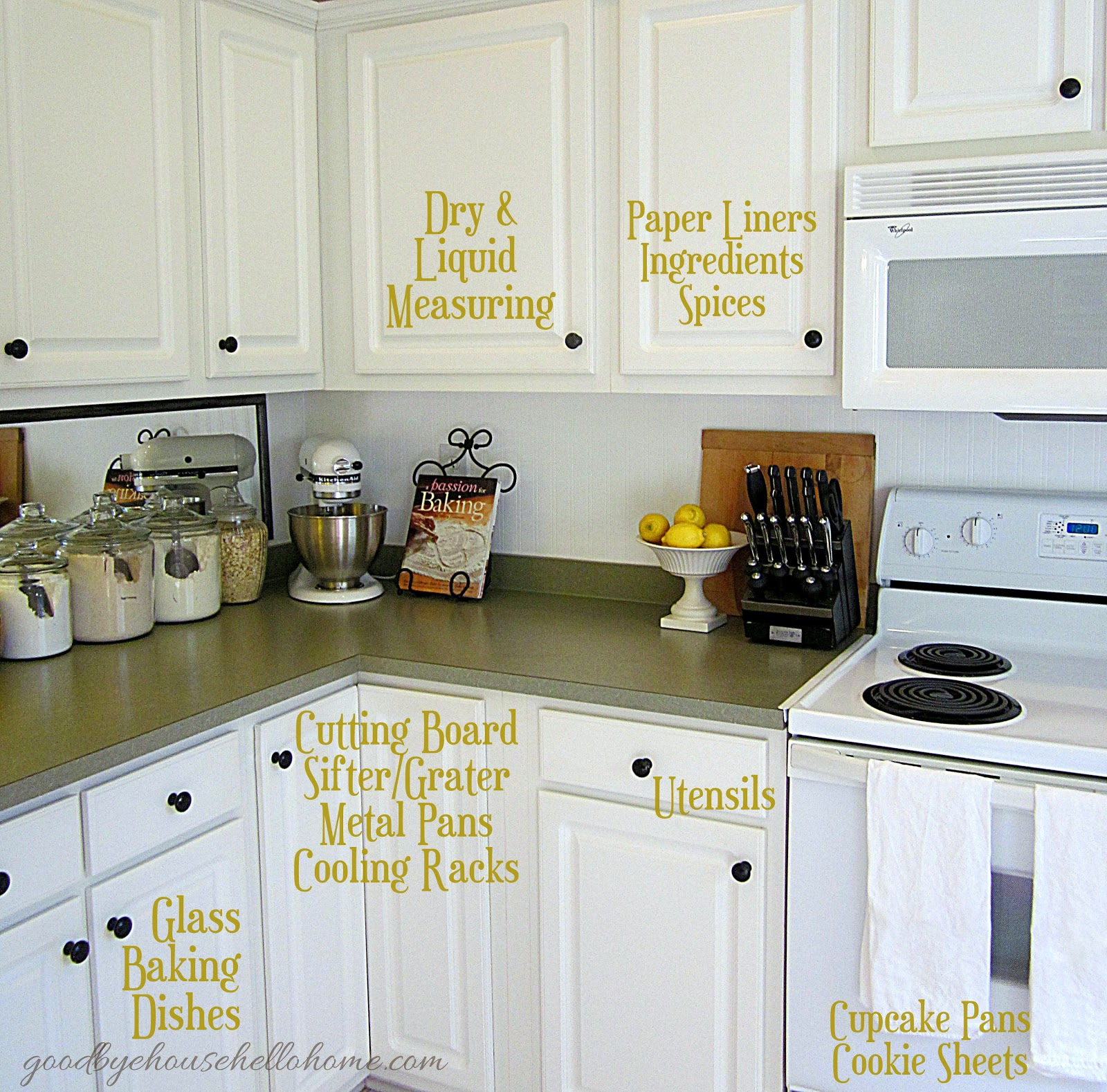 "Kitchen Storage And Organization: Organized Space Of The Week... Kitchen ""The Baking Zone"