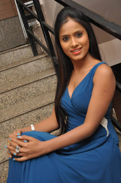 Prasanthi Stills At Lion Movie Success Meet
