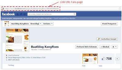 memasang fans page facebook