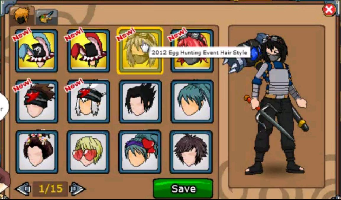 Hairstyle Ninja Saga Hack Permanent Update April