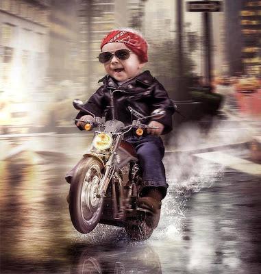 Bebe en moto
