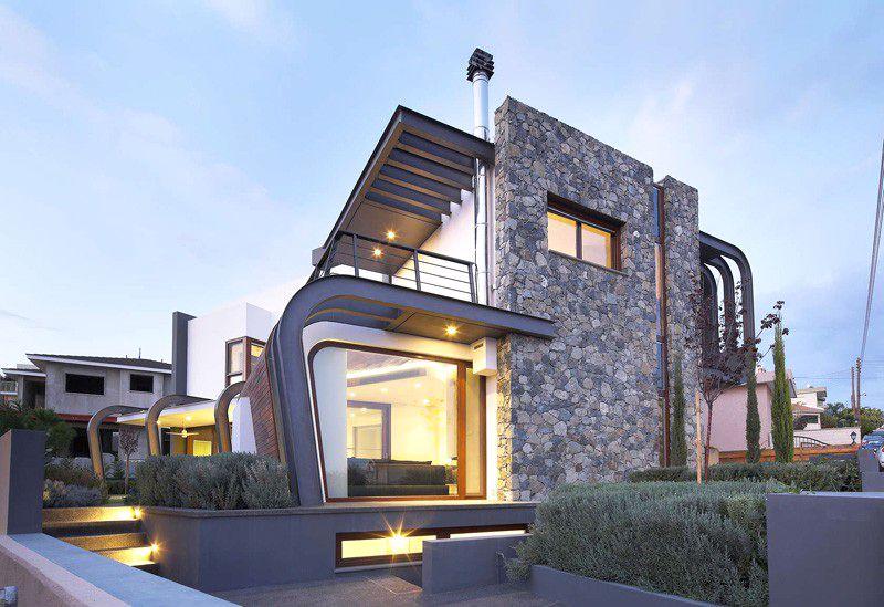 Casa moderna de estructura expuesta en chipre arquitexs for Estructura arquitectura