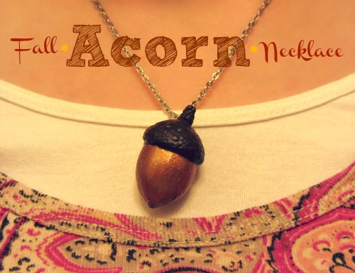 Homemakin and decoratin diy acorn necklace for Acorn necklace craft