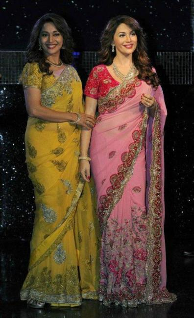 madhuri dixit wax statue at madame tussauds latest photos