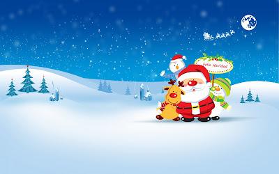 Wallpaper de Navidad con Santa Claus (Linda Ilustración)