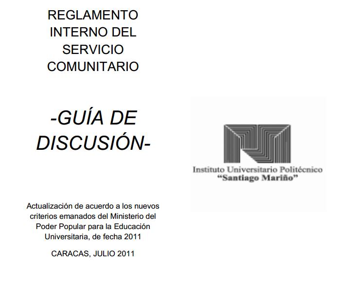 Reglamento interno y guía de discusión
