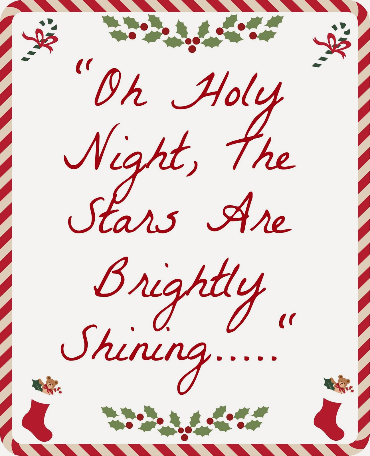 Oh Holy Night - Printable - Barbie Bieber and Beyond