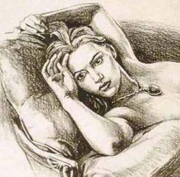 Sketch of Kate Winslet Naked