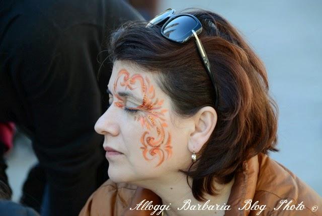 Trucco di carnevale a Venezia
