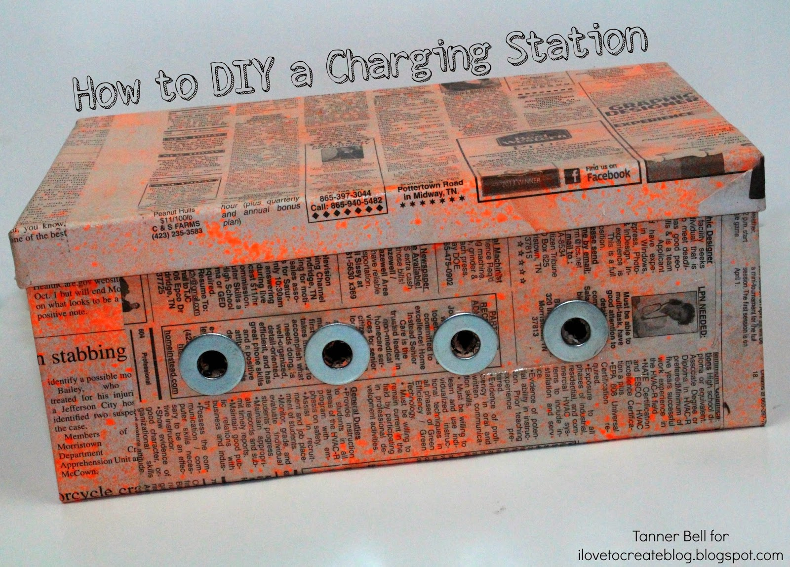 Make Charging Station How To Make A Diy Charging Station Ilovetocreate