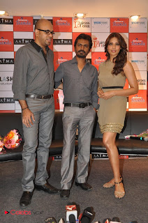 Bipasha Basu Pictures in One Shoulder Short Dress Promoting Movie Aatma at Reliance Trends ~ Celebs Next
