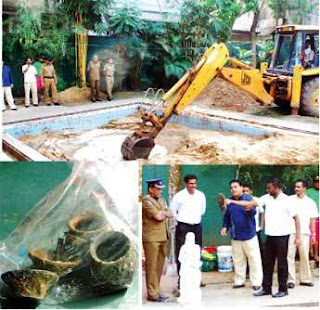 Sand removed from ASP's swimming pool