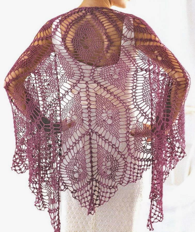 Crochet Shawl Patterns : Crochet Shawl Pattern - So Fine Crochet