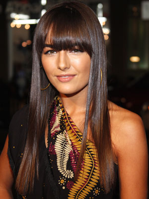 long hair layers side bangs. layered hairstyles for long hair with side fringe. long hair layered side bangs.