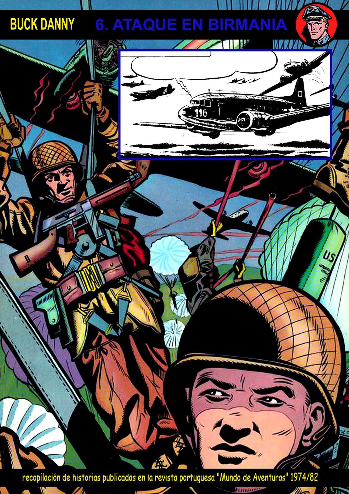 Nº 06 Buck Danny en blanco y negro - Mundo de Aventura. En portugués y español. Compilações de ASa