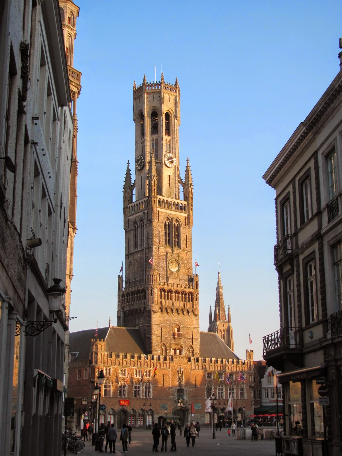 Bell Tower at Sunset Bruges