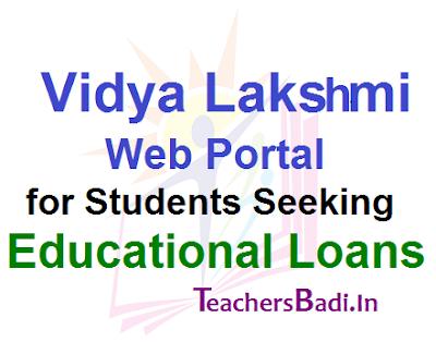 Vidya Lakshmi, Students, Educational Loans