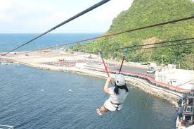 A girl in the Zipline