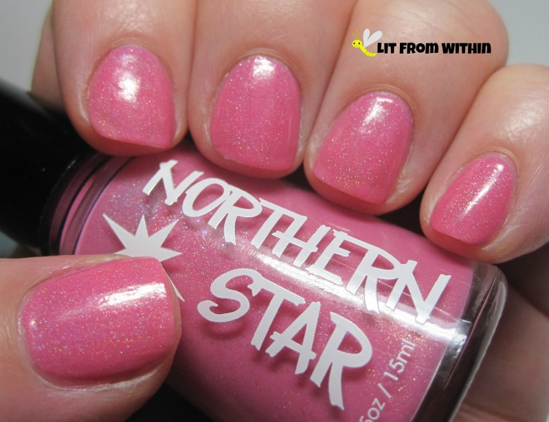 Northern Star Polish, Printemps, a barbie-pink with a subtle holo.