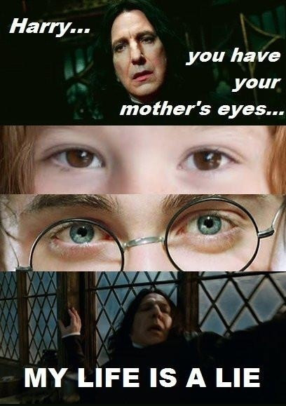 Harry Potter, You Have Your Mother's Eyes - My Life Is A Lie