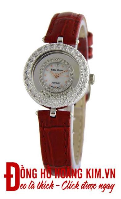 đồng hồ nữ dây da Royal Crown CR06