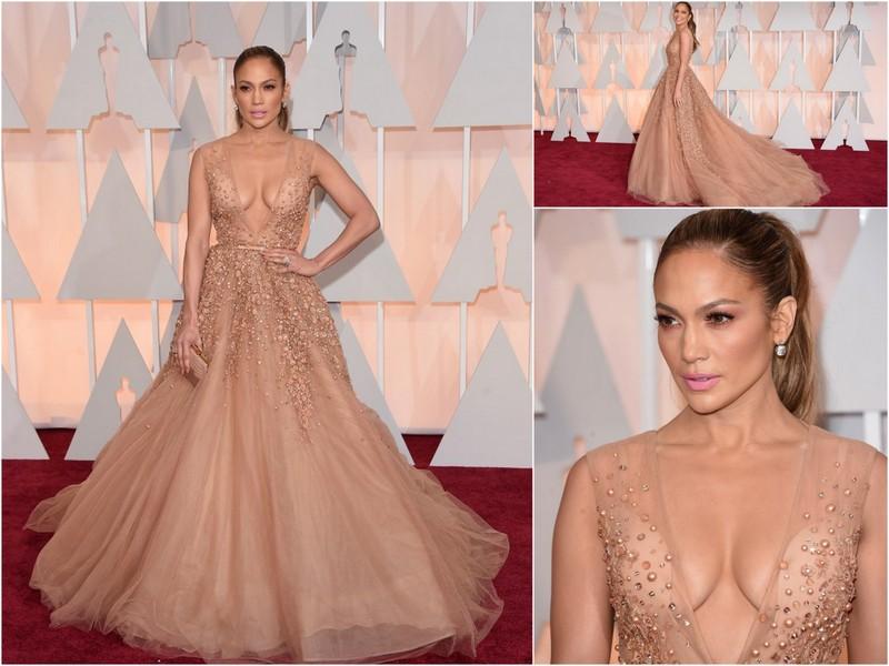 Jennifer Lopez, vestido Elie Saab, red carpet, looks, outfit, oscars 2015, oscar
