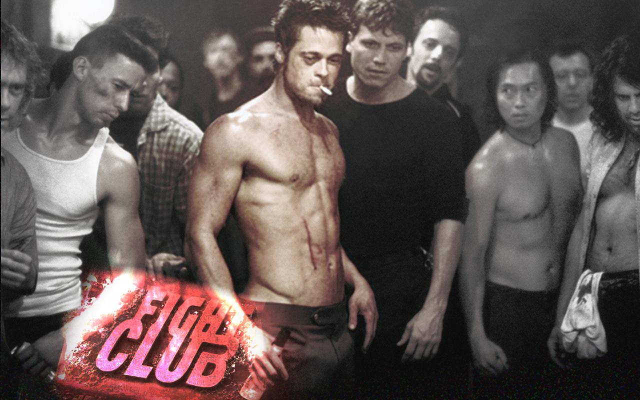 Brad pitt penis fight club