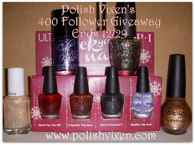 Polish Vixen's 400 Follower Giveaway! (29/12)