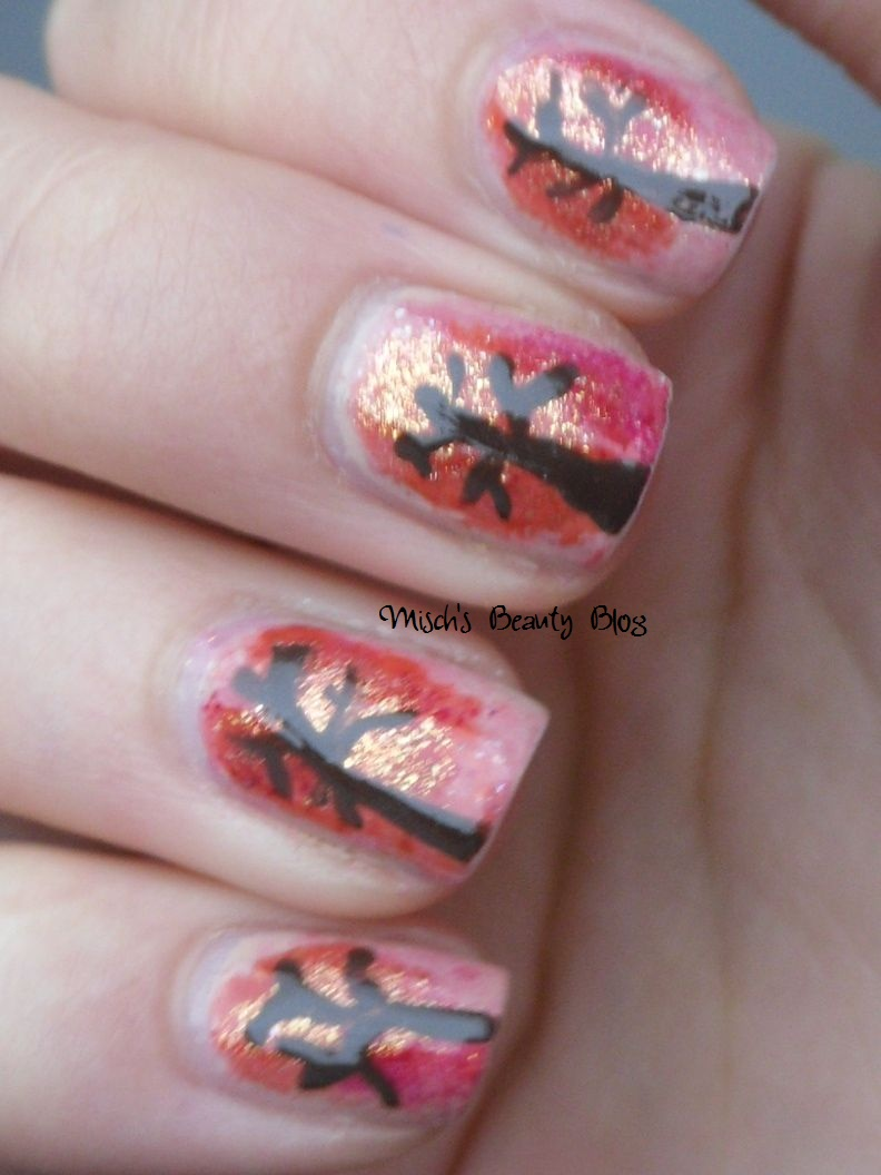 Misch\'s Beauty Blog: NOTD October 15th: Fall Tree Nail Art