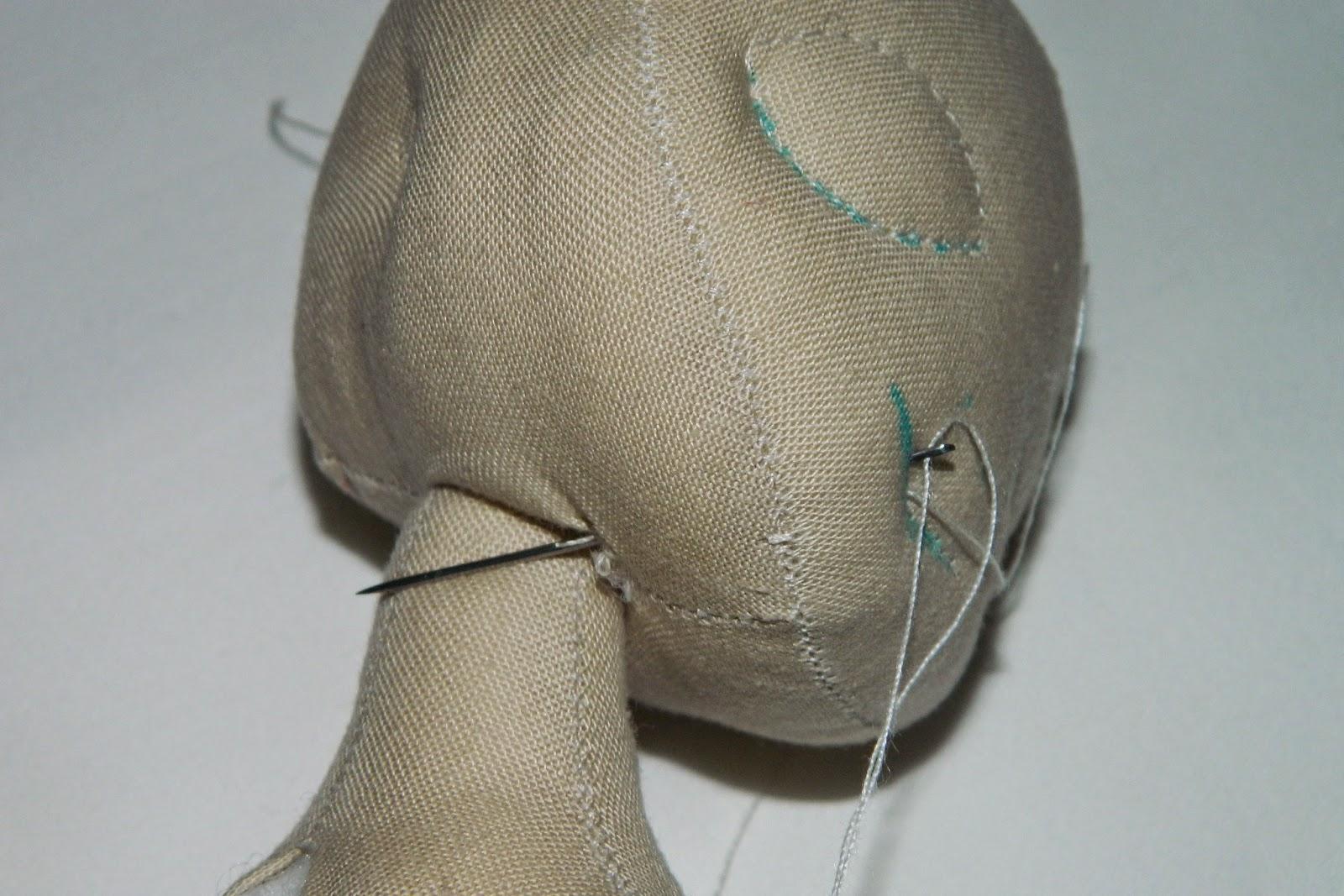 утяжка рта текстильной куклы