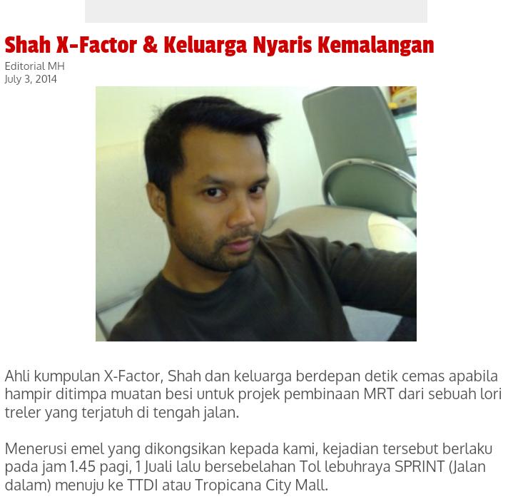 SHAH X Factor MediaHiburan NAK MENIPU BIAR BERFAKTA MRTMalaysia