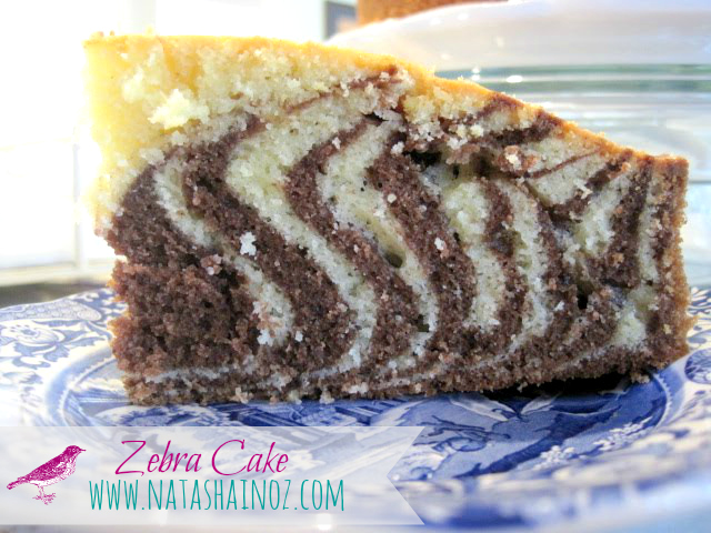 Foodie Friday, Natasha In Oz, Recipe, Zebra Cake, Zebra cake recipe,